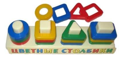 Сортер геометрический Цветные столбики АЭЛИТА
