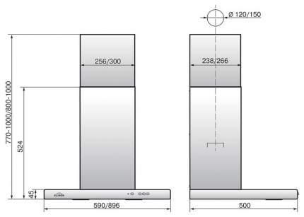 Вытяжка купольная Elikor Квадра 60П-430-К3Д Black