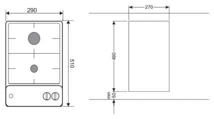 Встраиваемая варочная панель газовая Hansa BHGI33014 Silver