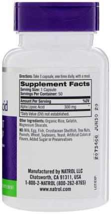 Антиоксидант Natrol Alpha Lipoic Acid 50 капс. натуральный