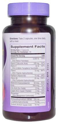 Витаминно-минеральный комплекс Natrol Skin Hair Nails 60 капсул