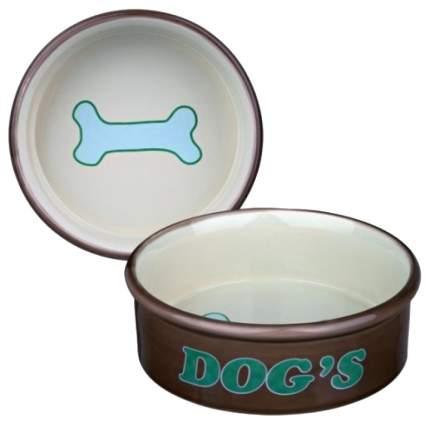 Набор мисок для собак TRIXIE, керамика, голубой, коричневый, 2 шт по 0.5 л