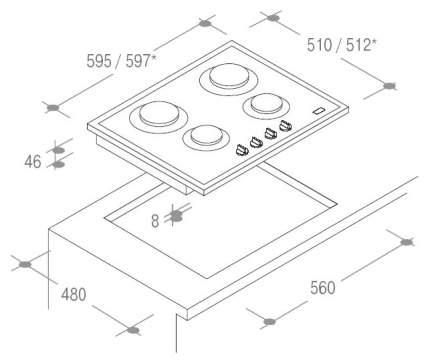 Встраиваемая варочная панель газовая Candy PV640SW White