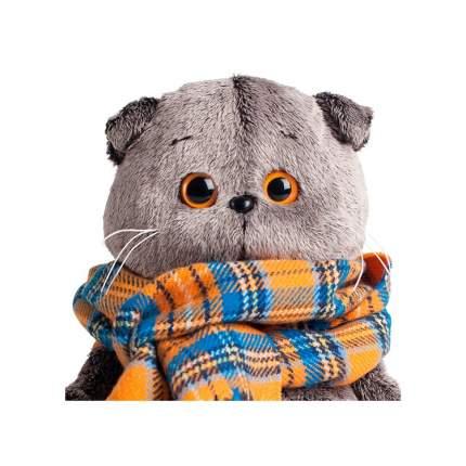 Мягкая игрушка BUDI BASA Кот Басик и шарф в клеточку, 25 см