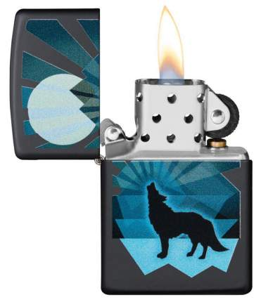 Зажигалка ZIPPO 29864 Wolf and Moon - Волк и Луна
