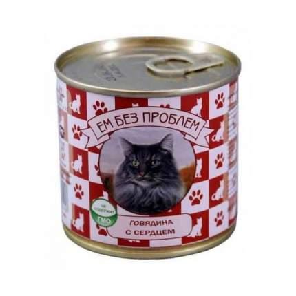 Консервы для кошек Ем Без Проблем, паштет, говядина и сердце, 410 г