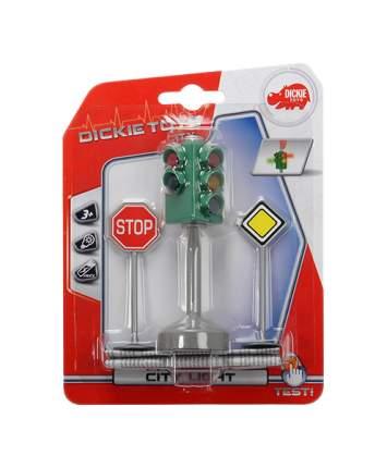 """Игровой набор """"Светофор с дорожными знаками"""" (свет), 12 см Dickie Toys"""