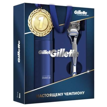 Подарочный набор Gillette Бритва Fusion5 + Sensitive Гель для бритья 200 мл