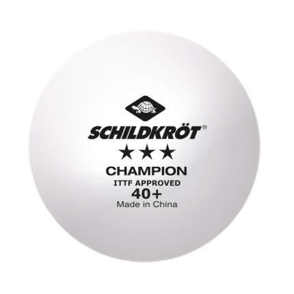 Мяч для настольного тенниса Donic Schildkrot Champion 3*** 40+ 3 шт., белый