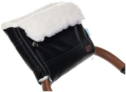 Муфта меховая для коляски Nuovita Alpino Lux Bianco черная
