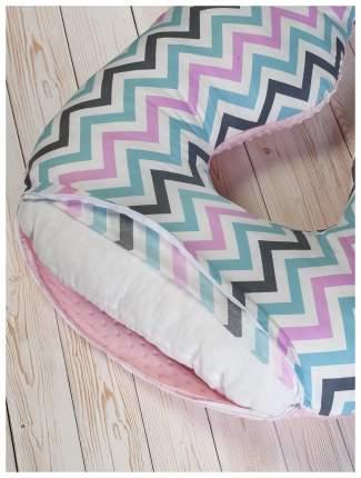 Подушка для беременных AmaroBaby Зигзаг розовая, 340х72 см