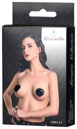 Пэстис Erolanta Lingerie Collection в форме сердец с кружевом черные 790111