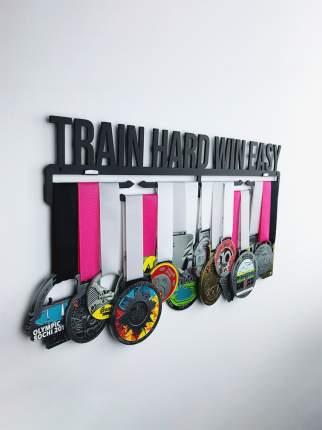 Медаллер Train Hard Win Easy черный
