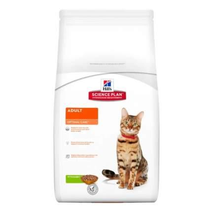 Сухой корм для кошек Hill's Science Plan Optimal Care, кролик, 5кг