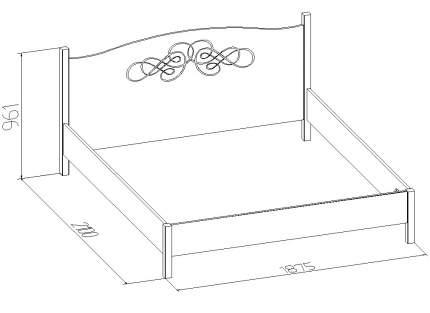 Кровать двуспальная Глазов мебель Adele 1 180х200 см, бежевый/коричневый