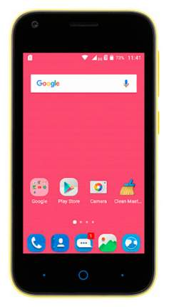 Смартфон ZTE Blade L110 Yellow