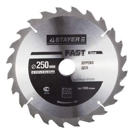 Диск по дереву для дисковых пил Stayer 3681-250-32-40