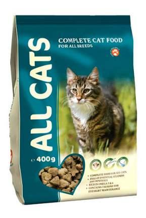 Сухой корм для кошек ALL CATS, полнорационный, мясо, 0,4кг