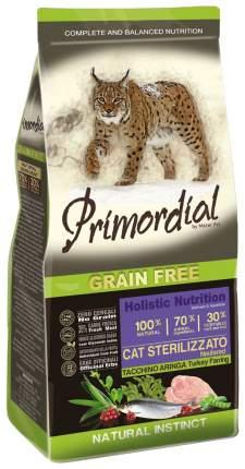 Сухой корм для кошек Primordial Natural instinct, для стерилизованных,индейка,сельдь,0,4кг