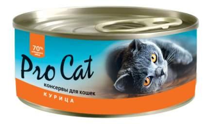 Консервы для кошек Pro Cat, курица, 100г