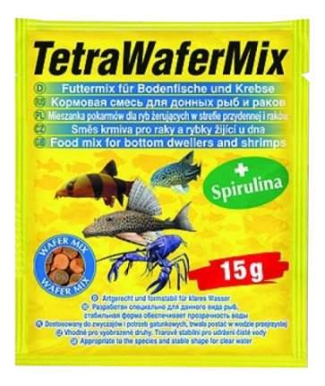 Корм для донных рыб Tetra Wafer Mix, чипсы, 15 г