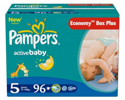 Подгузники Pampers Active Baby-Dry Junior (11-18 кг), 96 шт.