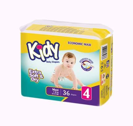 Подгузники Kidy Extra Soft Maxi 4 (7-18 кг), 36 шт.