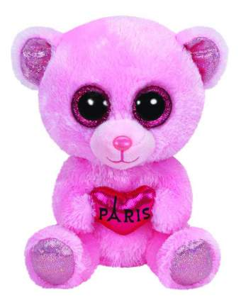 Мягкая игрушка TY Beanie Boos Медвежонок (розовый) Paris 15 см