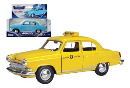 Коллекционная модель Autotime ГАЗ-21 Волга желтое Такси 1:43
