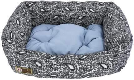 Лежанка для кошек и собак ЗООГУРМАН 56x45x16см голубой, черный, белый