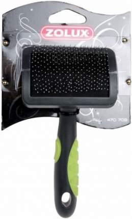 Пуходерка для кошек и собак ZOLUX пластик, резина зеленый, черный