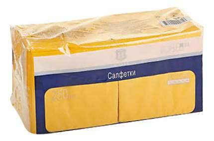 Салфетки H-Line трехслойные желтые 24*24 см 250 штук
