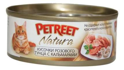 Консервы для кошек Petreet Natura, тунец, кальмар, 70г