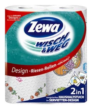 Бумажные полотенца Zewa wisch&weg с рисунком 2 слоя 2 штуки