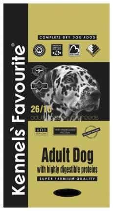 Сухой корм для собак Kennels Favourite Adult Dog, индейка, курица, утка, 4кг
