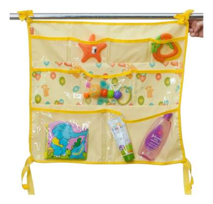 Текстильный карман в детскую кроватку Чудо-Чадо Капитошка желтый