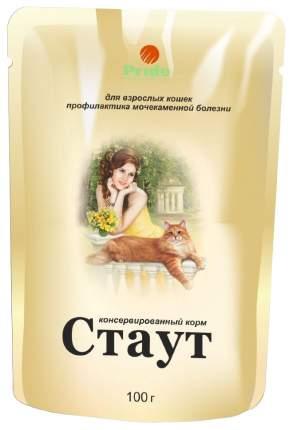 Влажный корм для кошек Стаут, профилактика МКБ, курица в соусе, 24шт по 100г