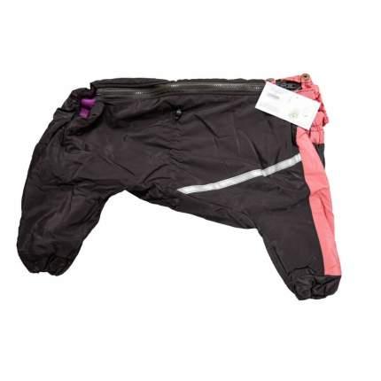 Комбинезон для собак Зоофантазия размер M женский, черный, розовый, длина спины 38 см