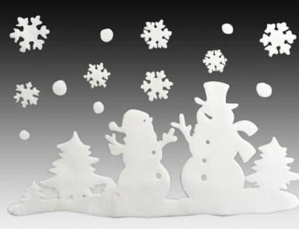 Наклейки для окна Друзья Снеговички 40*30 см RD-60290