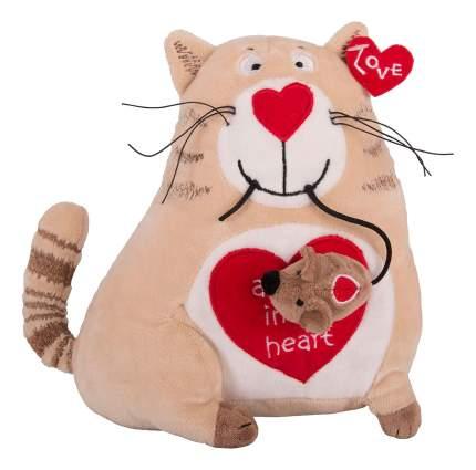 Мягкая игрушка Gulliver Кот и мышь Любовь с первого взгляда, 20 см