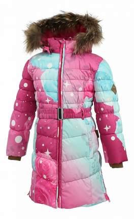 Пальто Huppa Yasmine фуксия с принтом р.134