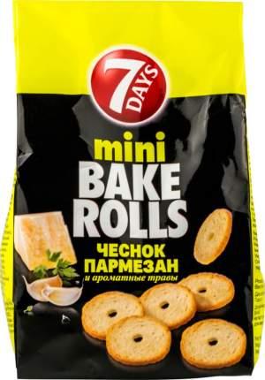 Сухарики пшеничные Bake rolls mini с чесноком и пармезаном 80 г