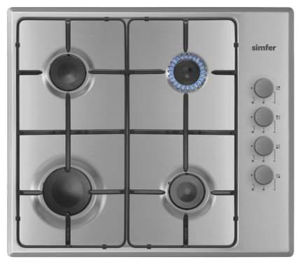 Встраиваемая варочная панель газовая Simfer H60Q40M411 Silver