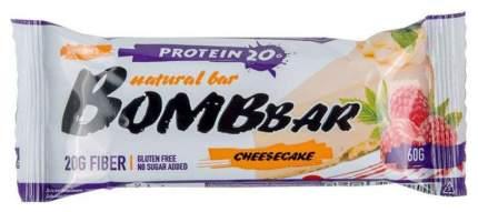 Протеиновый батончик Bombbar Protein Bar 60 г малиновый чизкейк