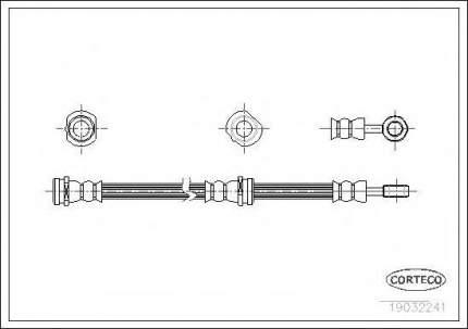 Шланг тормозной Corteco 19032241