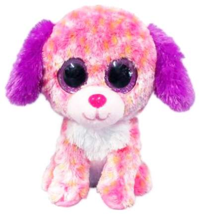 Мягкая игрушка ABtoys Собачка светло-розовая, 15 см