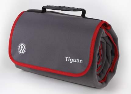 Плед Volkswagen Tiguan Plaid, Grey/Red, артикул MFAC1334SVO
