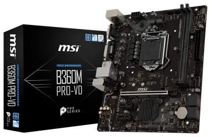 Материнская плата MSI B360M PRO-VD