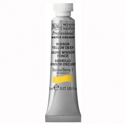 Акварель Winsor&Newton Artists Watercolour винзор насыщенно-желтый 5 мл