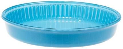 Посуда для СВЧ круглая 26 см стекло (голубой) 59044BL